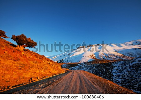 Atlas mountains in  Morocco, Africa - stock photo