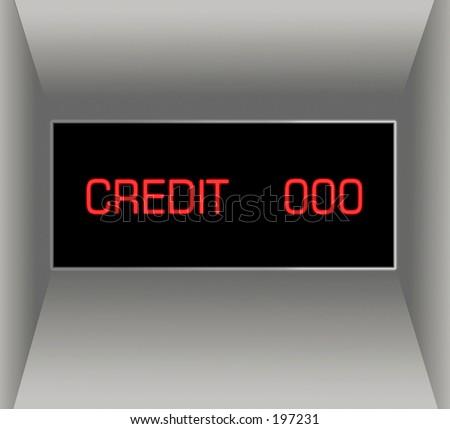 ATM illustration - stock photo