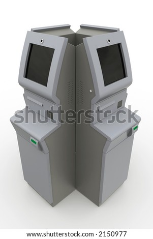 atm machine - box - stock photo