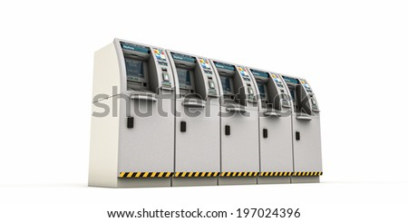 atm stay away isolated on white background - stock photo
