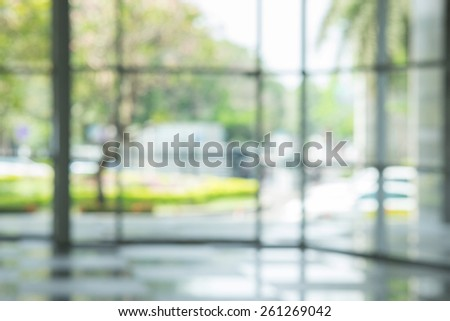 atmosphere around office  blur background with bokeh - stock photo