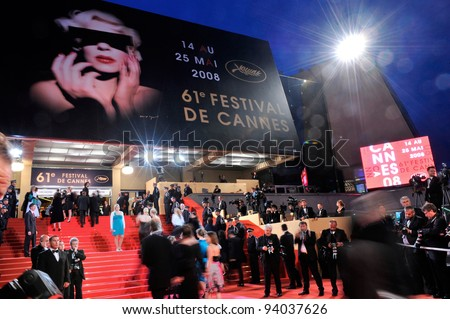 Atmosphere at the Palais de Festivals at the 61st Annual International Film Festival de Cannes. May 19, 2008  Cannes, France. Picture: Paul Smith / Featureflash