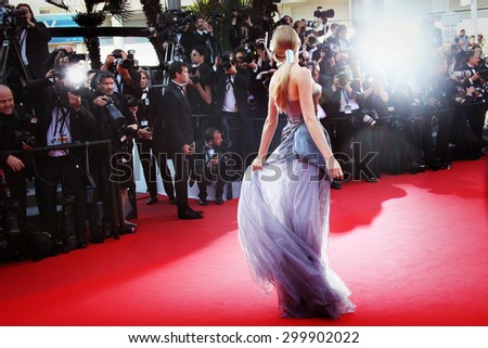 Atmosphere attends the 'Carol' Premiere during the 68th annual Cannes Film Festival on May 17, 2015 in Cannes, France - stock photo