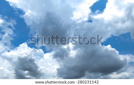 Atmospheric heavy low lying clouds - stock photo