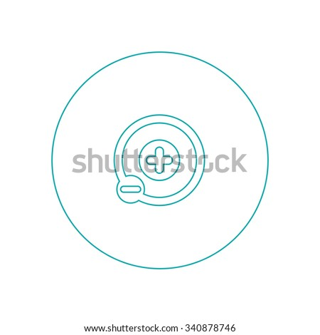 Atom icon. Concept flat style design illustration icon. - stock photo