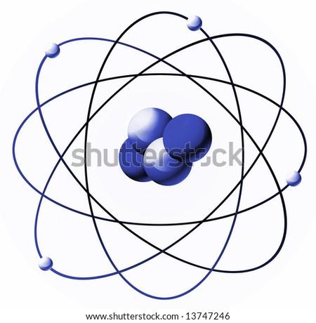 atom illustration - stock photo