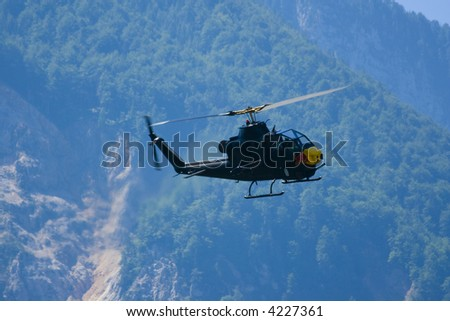 Attack Helicopter at the Airshow - stock photo