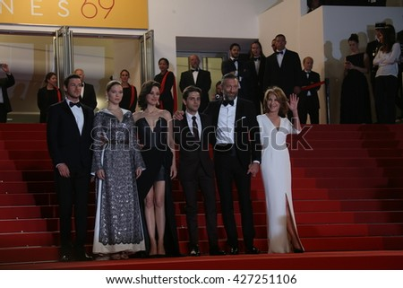 attends the 'It's Only The End Of The World (Juste La Fin Du Monde)' Premiere during the 69th annual Cannes Film Festival at the Palais on May 19, 2016 in Cannes, France.  - stock photo