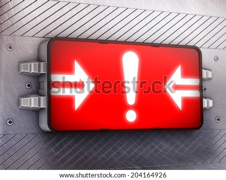 Attention - stock photo