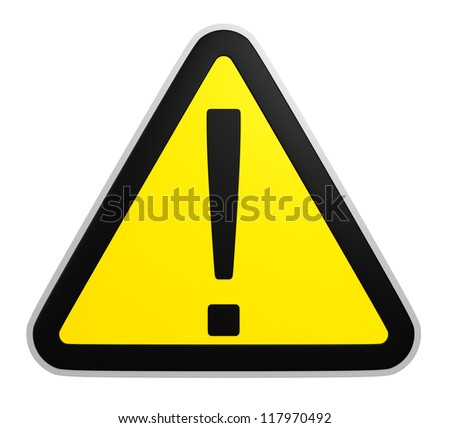 attention triangle mark - stock photo