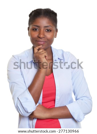 Attractive african woman looking at camera - stock photo