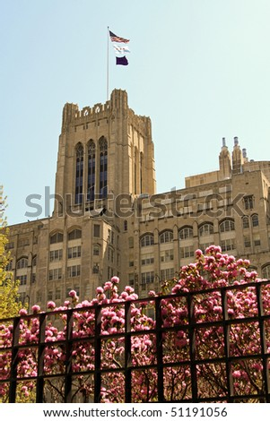 Attractive architecture on a major university medical school in the midwest - stock photo