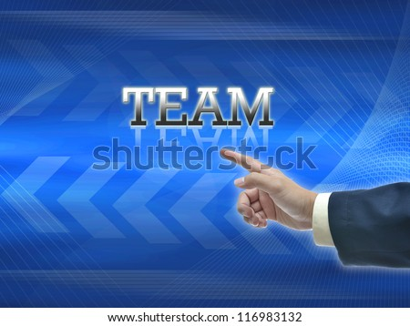 Attractive artwork of business wording on blue abstract background.