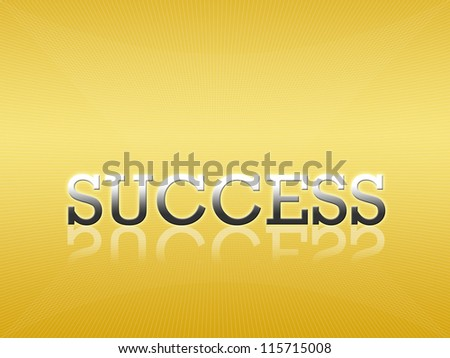Attractive artwork of business wording on golden gradient background.