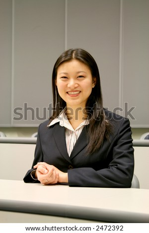 attractive asian business woman - stock photo