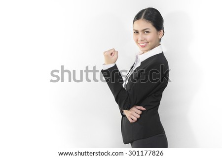 Attractive asian business women who smile - stock photo