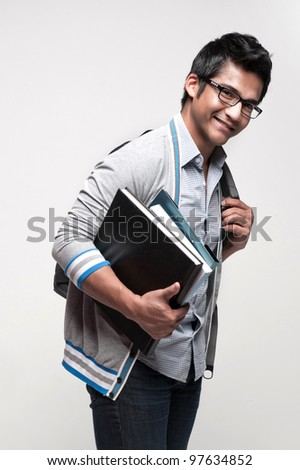 Attractive asian students going for school and doing activities - stock photo