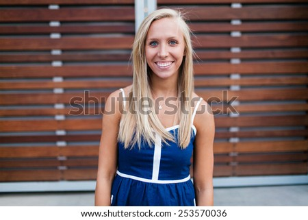 Attractive Blond Young Adult - stock photo