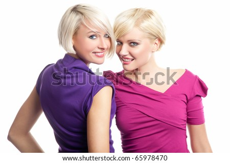 Attractive blonde girls - stock photo