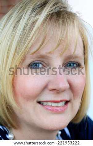 Attractive Business Professional Business Woman Smiling and Happy - stock photo