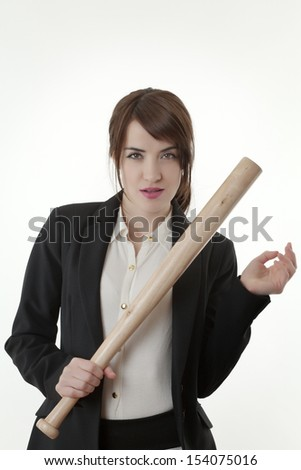 attractive businesswoman - stock photo