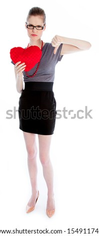 Attractive caucasian business woman in her 30 isolated on a white background - stock photo
