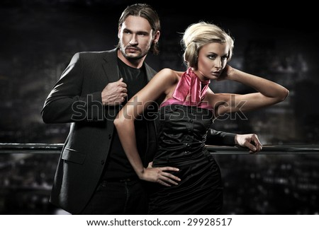 Attractive couple - stock photo