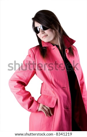 Attractive in pink - stock photo