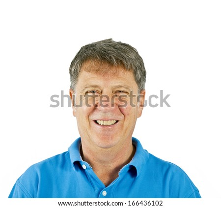 attractive man dressed casually in studio isolated on white - stock photo