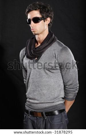 Attractive Man in Sunglasses - stock photo