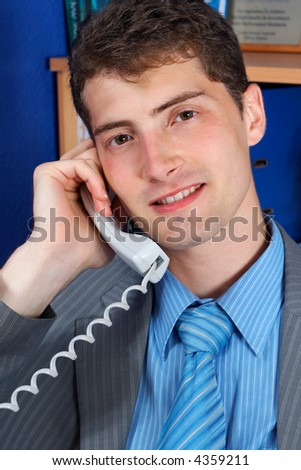 attractive manager talking on the phone