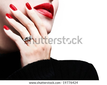 Attractive married woman OR a toothache - stock photo