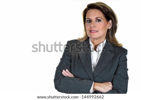 Attractive Mature Business Woman - stock photo
