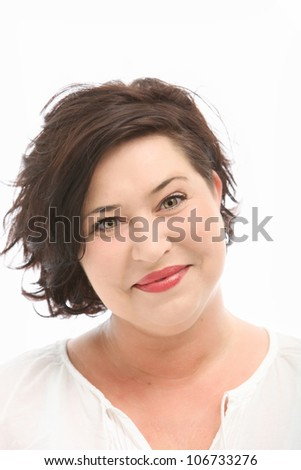 Attractive middle-aged woman - stock photo