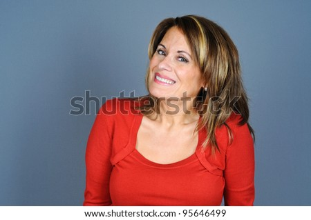 Attractive Middle Aged Woman - stock photo