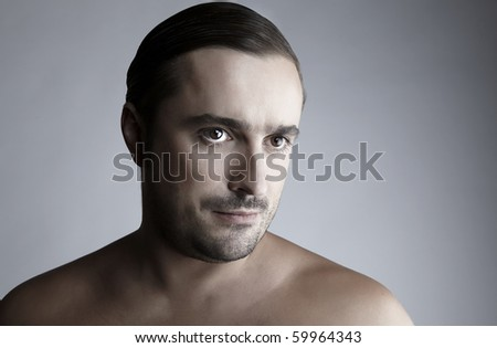 Attractive Middle ages man looking at camera