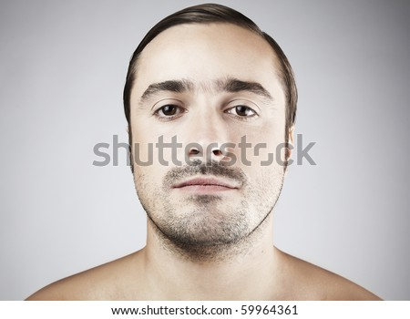 Attractive Middle ages man looking at camera - stock photo