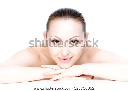 Attractive Mixed Asian Female smiling facing straight with smile