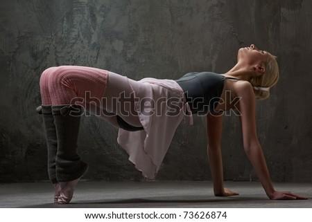 Attractive modern ballet dancer - stock photo