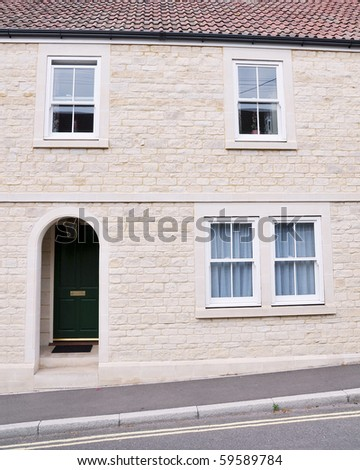 Attractive New Family Home - stock photo