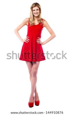 Attractive pretty caucasian female model - stock photo