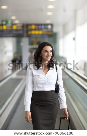 attractive woman going on holidays - stock photo