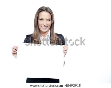 attractive woman in suit with paper