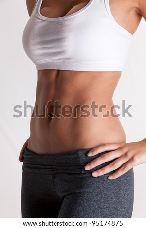 attractive woman with abs