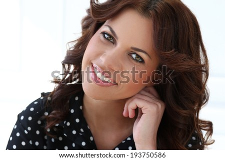 Attractive woman with beautiful face