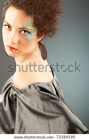 Attractive woman with the stylish make up