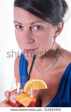attractive women having a drink