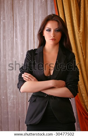 attractive young adult wearing suit - stock photo