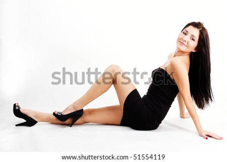 attractive young brunette woman smiling