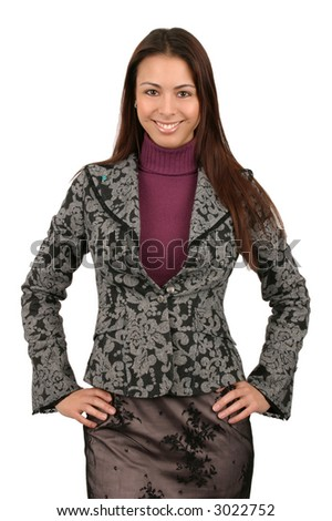 Attractive young business woman. - stock photo